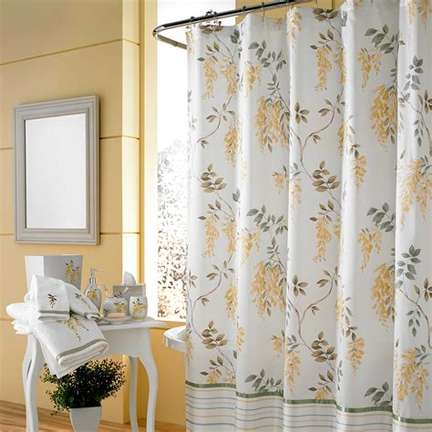 Yellow And White Kitchen Ideas - bed bath and beyond shower curtains offer great look and functional homesfeed