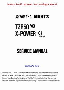 Yamaha Tzr 50 X Power Service Repair Manual By Julianahope