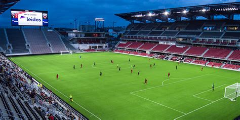 audi field s debut to bring heightened fan experience energy efficiency with led field lighting