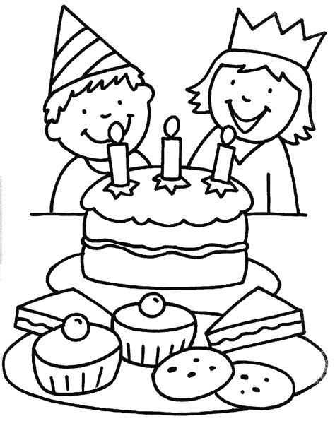 Kleurplaat Kleuter by Kleurplaat Verjaardag Kleuters Thema Feest