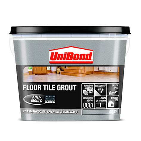 Tile Adhesive Remover Homebase by Unibond Ready Mixed Floor Grout Grey 3 75kg