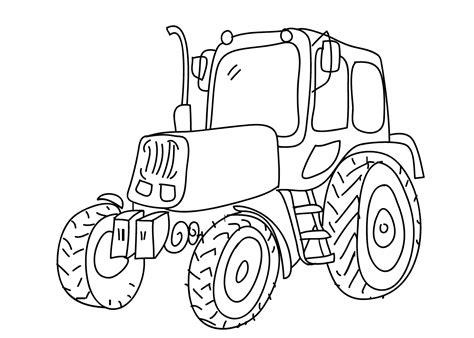 Kleurplaat Tractor Met Ploeg by Kleurplaat Tractor Graafmachines En Trekkers Tijd Met