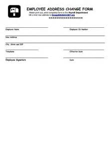 Change Address Form Template