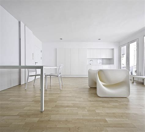 A Minimalist Modern Apartment In White by Small Minimal Apartment Design In White Modern Design By
