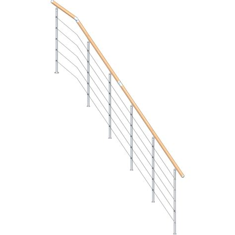 Stair Banister Kit by Dolle Rome 3 5 Ft Gray Painted Stair Railing Kit At Lowes