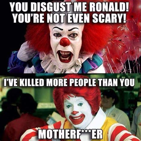 Macdonald Meme - instagram meme pennywise the clown from stephen king s it and ronald mcdonald clown humor