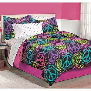 Latitude Neon Peace Bedding forter Set Walmart