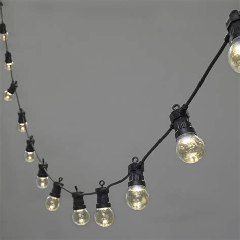 20 led clear cap warm white connectable festoon lights