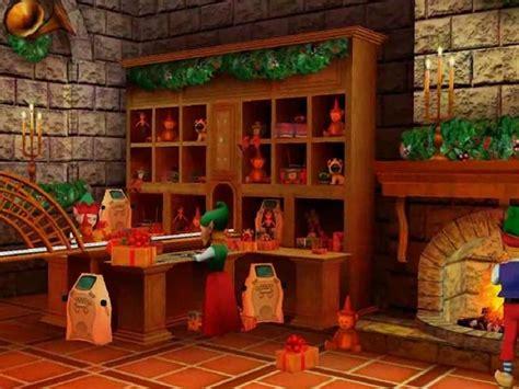 Santa S Workshop Wallpaper Animated - santa s workshop 3d screensaver santa s dollhouse and