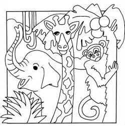 safari animal coloring pages az coloring pages