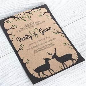 woodland deer stag rustic printable wedding invitation With rustic stag wedding invitations