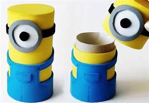 Fabriquer Un Personnage En Carton : comment fabriquer des minions partir de tubes en carton ~ Zukunftsfamilie.com Idées de Décoration