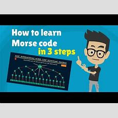 Morse Code  How To Learn Morse Code Alphabet In 3 Steps  Tutorial Youtube