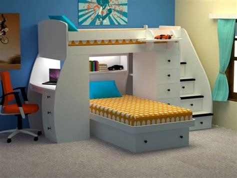 lit superposé avec bureau intégré l 39 arrangement des lits superposés dans la chambre d 39 enfant