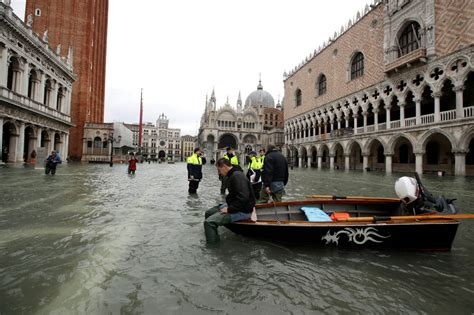 3rd record tide enters Venice as Italy hit with snow, rain ...