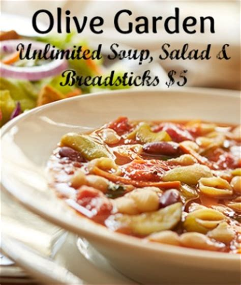 soup and salad olive garden olive garden unlimited soup salad