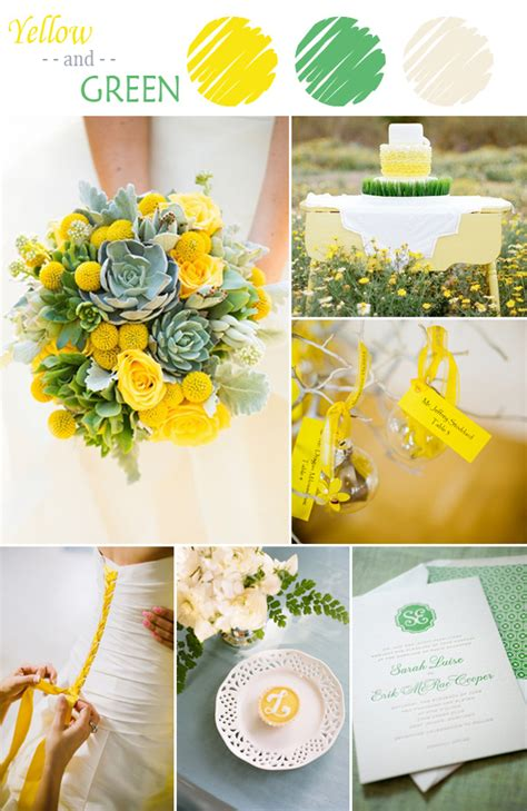 7 yellow wedding color combination ideas to