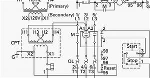 control circuit with control power transformer cpt With cpt wiring diagram