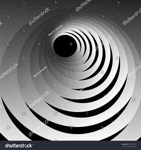 Optical Illusion Entrance Hole Through Swirling Stock ...