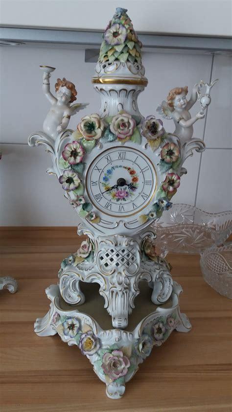 ist eine schierholz porzellan kaminuhr antikes design