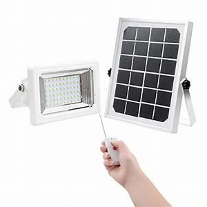 Save solar flood light findyouled warm white led