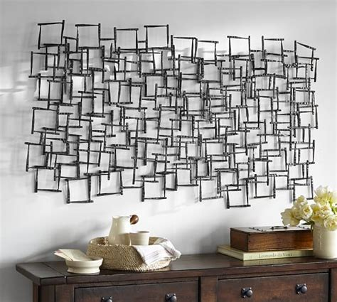 pottery barn metal wall decor forged metal sculpture pottery barn