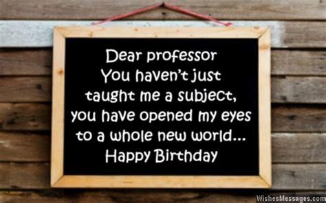 birthday wishes  professor