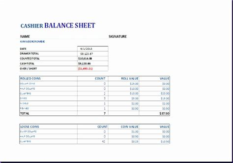 small business account sheet cash flow projection