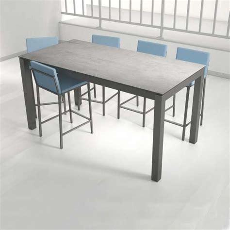 table cuisine ceramique table snack rectangulaire en céramique et métal coma bar