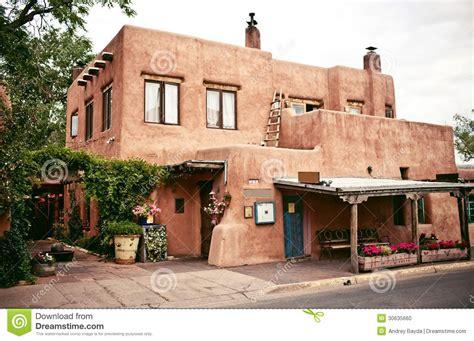adobe style house plans historical houses of santa fe mexico stock photo