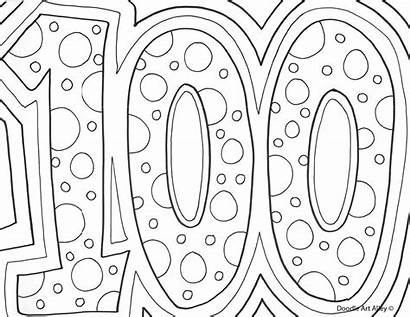 Coloring 100th Days Birthday Printable Sheets Number