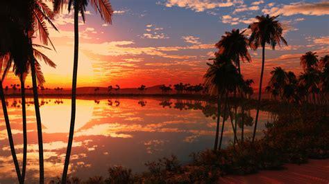Beautiful Lake Sunset Wallpapers  Hd Wallpapers  Id #18052