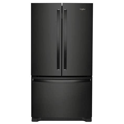 Whirlpool 20 Cu Ft French Door Refrigerator In Black