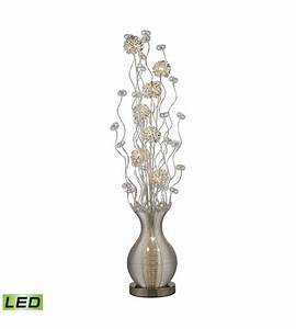 Dimond lighting d2716 uniontown 63 inch 15 watt silver for Five light floor lamp in silver