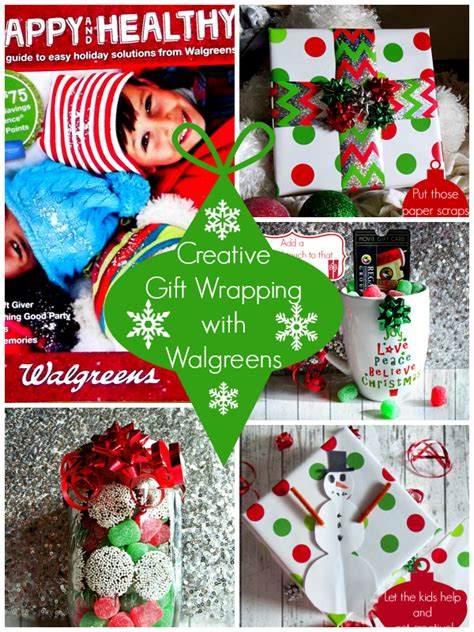 creative gift wrapping ideas with walgreens holiday gift guide