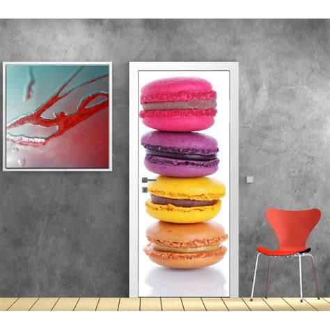deco stickers cuisine stickers porte déco cuisine macaron stickers autocollants