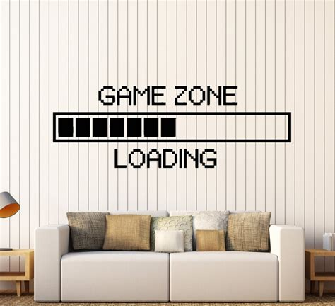 game zone computer gaming wall stickers vinyl wall sticker