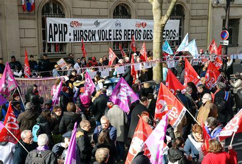 assistance publique hopitaux de siege manifestation contre la réforme du temps de travail dans