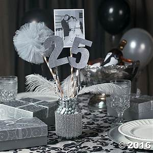 Table Decorations For 25 Wedding Anniversary