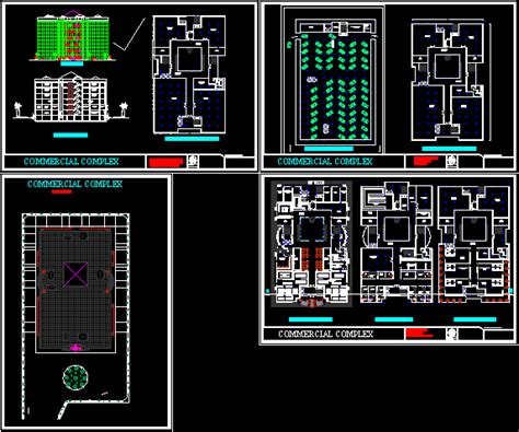shopping mall plan  autocad cad   mb