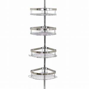 Zenna home over the shower door caddy in chrome e7803ss for Floor to ceiling shower caddy