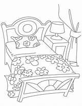 Coloring Bedroom Pages Bed Getcolorings Printable Getdrawings Furniture sketch template