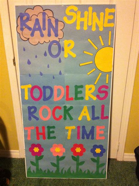 toddler classroom door decor toddlers pinterest