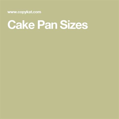 25 best cake pan sizes ideas on cake pans kitchen measurement conversions and