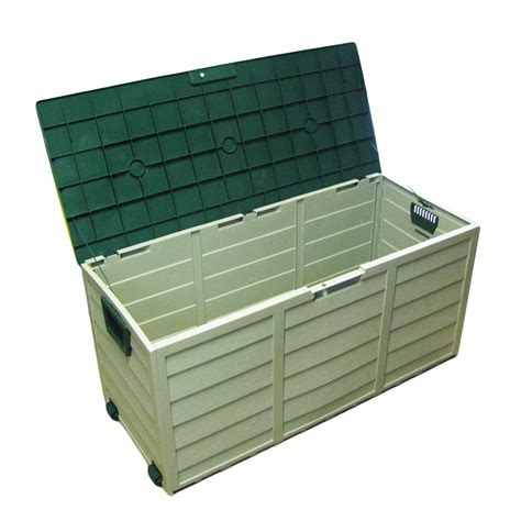plastic garden portable outdoor shed storage box chest on