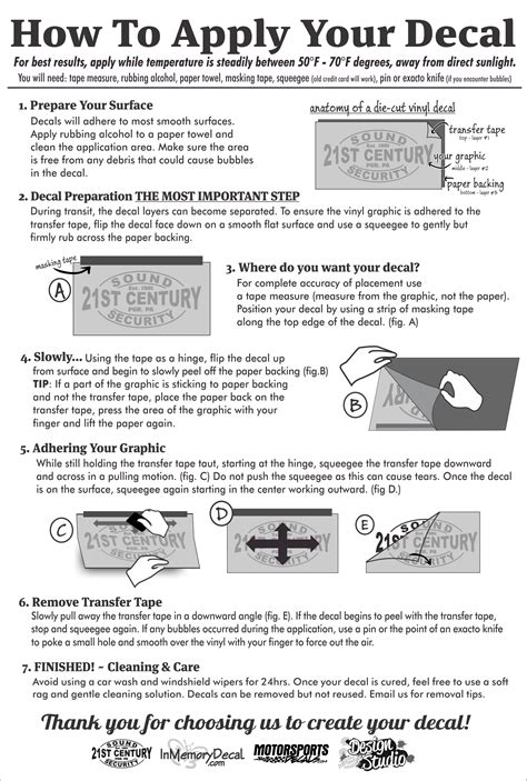 Decal Installation Tips - In Loving Memory Car Window Decals