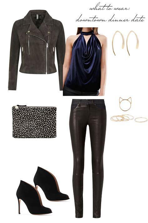 Date Night Outfit Ideas - What to Wear to a Downtown Dinner Date! Emily Holmes Hahn Last First ...