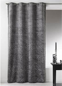 Rideau Jaune Et Gris : rideau gris paillete ~ Teatrodelosmanantiales.com Idées de Décoration