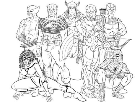 seven hero of the avengers coloring page download