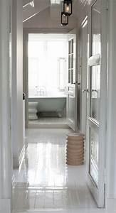 le parquet blanc une jolie tendance deco With parquet blanc laqué